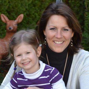 Über mich: Ich mit meiner kleine Tochter